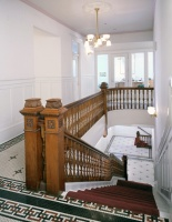 The front stairs, as seen from the 3rd floor